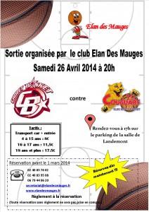 Sortie Elan Des Mauges Cholet Basket  /  Limoges