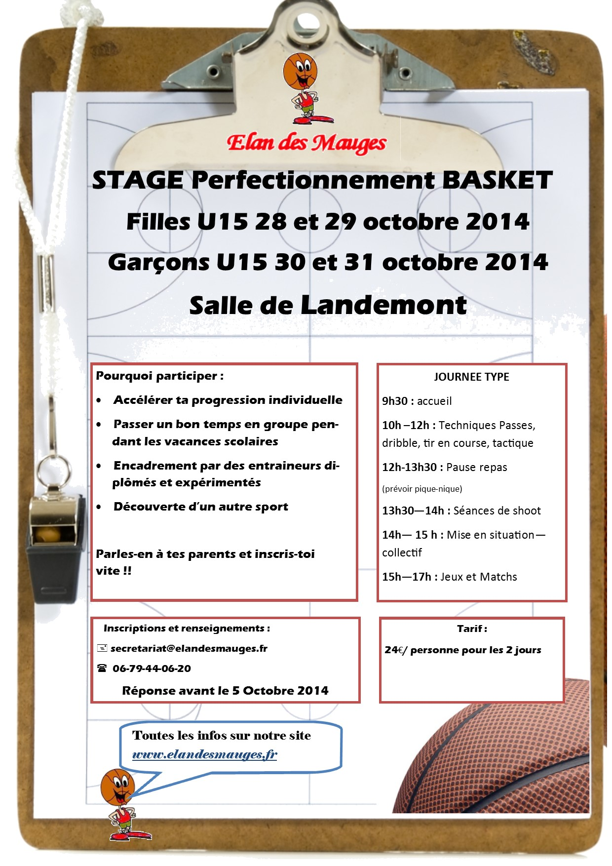 Stage perfectionnement Minimes toussaint 2014