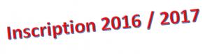 Dossier d'inscription 2016-2016